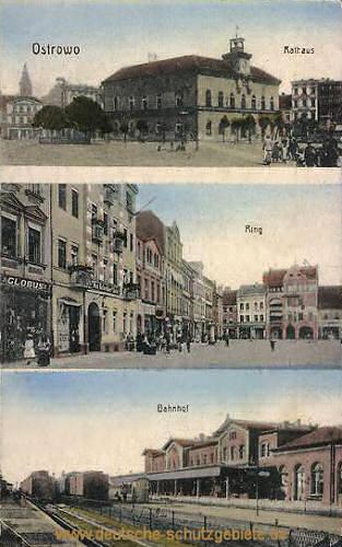 Ostrowo, Rathaus, Ring, Bahnhof