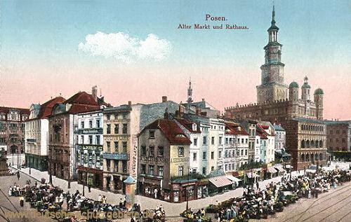 Posen, Alter Markt und Rathaus