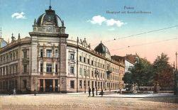 Posen, Hauptpost mit Kronthal-Brunnen