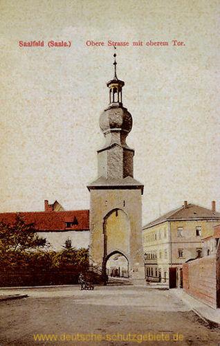 Saalfeld, Obere Straße mit oberem Tor