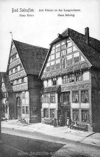 Bad Salzuflen, Alte Häuser an der Langenstraße