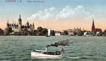 Schwerin, Blick vom See aus