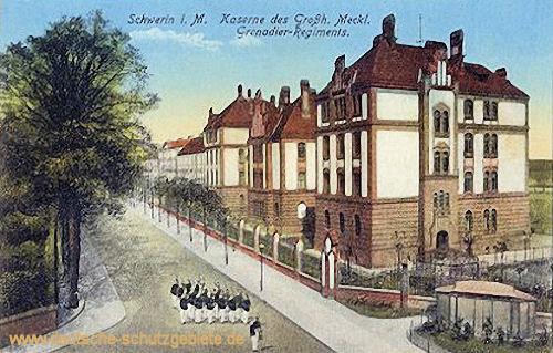 Schwerin i. M., Kaserne des Großh. Meckl. Grenadier-Regiments