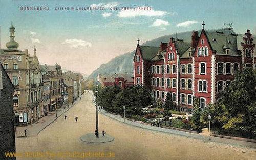 Sonneberg, Kaiser Wilhelmplatz. Coburger Straße