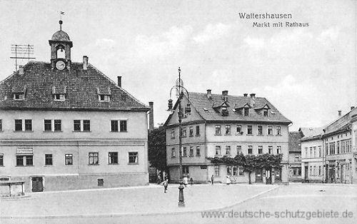 Waltershausen, Markt mit Rathaus