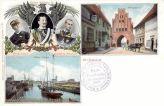 Wismar, Wassertor, Hafen, König Oskar, Kaiser Wilhelm II., Friedrich Franz IV.