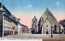 Zerbst, Schlossfreiheit mit Bartholomäi-Turm und Kirche