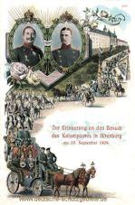 Zur Erinnerung an den Besuch des Kaiserpaares in Altenburg am 19. September 1909