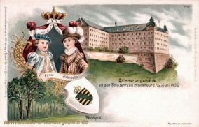 Erinnerungskarte an den Prinzenraub in Altenburg 7./8. Juli 1455