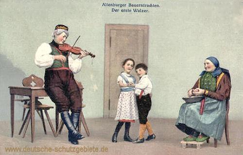 Altenburger Bauerntrachten, Der erste Walzer