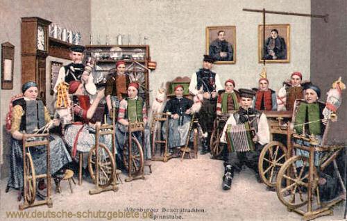 Altenburger Bauerntrachten, Spinnstube