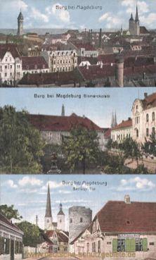 Burg b. M., Bismarckplatz, Berliner Tor