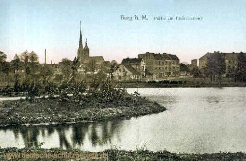 Burg b. M., Partie am Flickschuteich