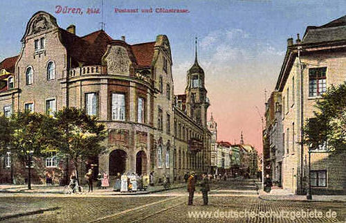 Düren, Postamt und Kölnstraße