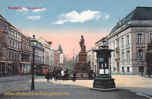 Duisburg, Königstraße mit Bismarckdenkmal