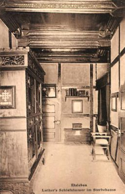 Eisleben, Luthers Schlafzimmer im Sterbehaus