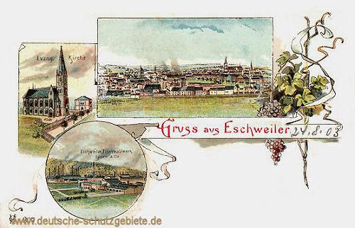 Eschweiler, Eisenwalzwerk, Evang. Kirche