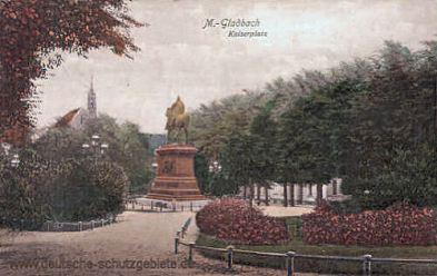 M.-Gladbach, Kaiserplatz mit Denkmal Kaiser Wilhelm I.