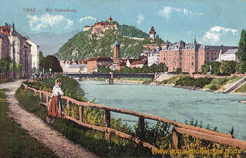 Graz, Mur Schlossberg