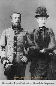 Kronprinz Rudolf mit seiner Gemahlin Stephanie