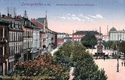 Ludwigshafen, Marktplatz mit Luitpold-Denkmal