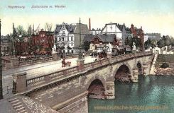 Magdeburg, Zollbrücke mit Werder