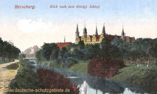 Merseburg, Blick nach dem Königl. Schloss