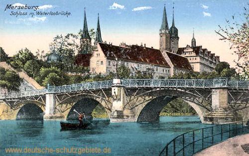 Merseburg, Schloss mit Waterloobrücke