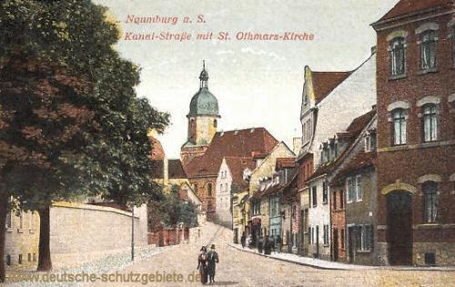 Naumburg, Kanal-Straße mit St. Othmars-Kirche
