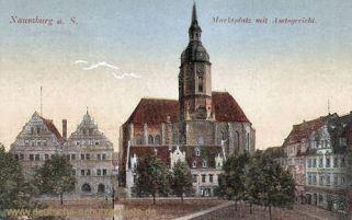 Naumburg, Marktplatz mit Amtsgericht