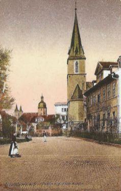 Naumburg, Partie bei der Katholischen Kirche