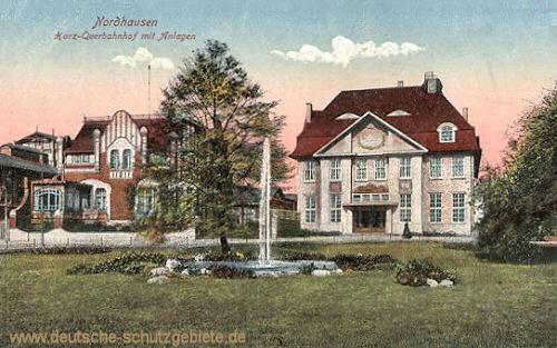 Nordhausen, Harz-Querbahnhof mit Anlagen