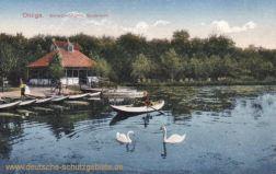 Ohligs, Schwanenmühle. Gondelteich