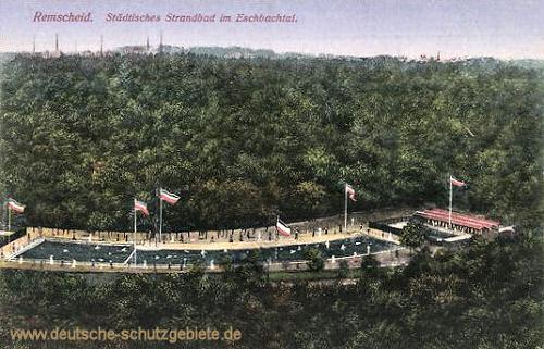 Remscheid, Städtisches Strandbad im Eschbachtal