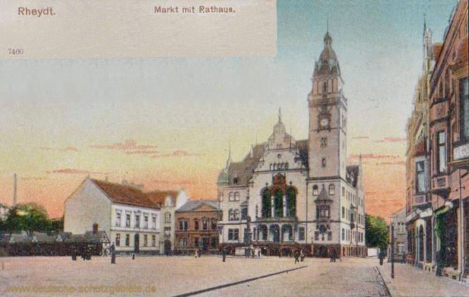 Rheydt, Markt mit Rathaus