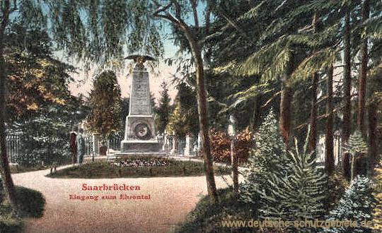 Saarbrücken, Eingang zum Ehrental