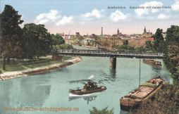 Saarbrücken, Seepartie mit Luisenbrücke
