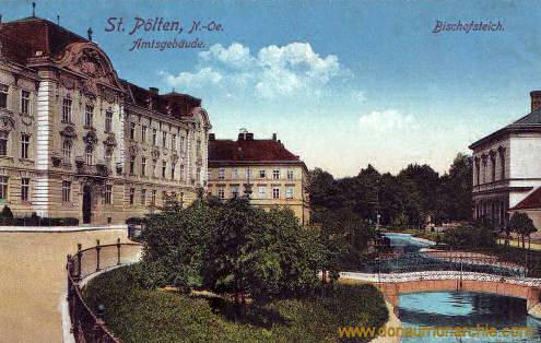 St. Pölten, Amtsgebäude. Bischofsteich.