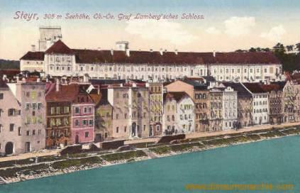 Steyr, 305 m Seehöhe, Ob.-Oe., Graf Lamberg'sches Schloss