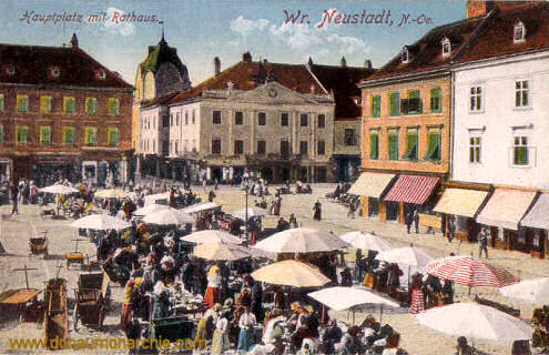 Wiener-Neustadt, Hauptplatz mit Rathaus