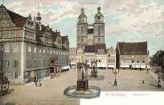 Wittenberg, Marktplatz, Rathaus, Stadtkirche