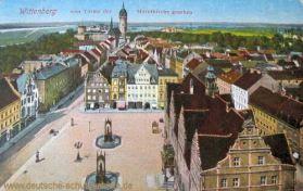 Wittenberg vom Turme der Marktkirche gesehen