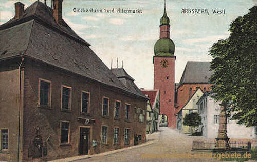 Arnsberg, Glockenturm und Altermarkt