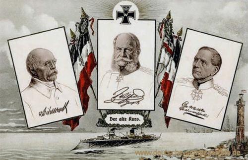 Otto von Bismarck, Kaiser Wilhelm I., Helmuth von Moltke