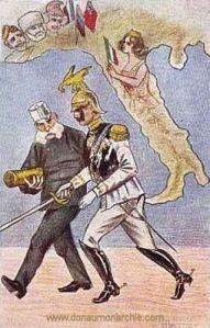 Kaiser Franz Joseph und Kaiser Wilhelm II.