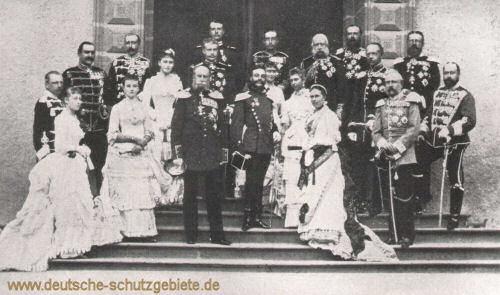 Kaisertage in Homburg 1883