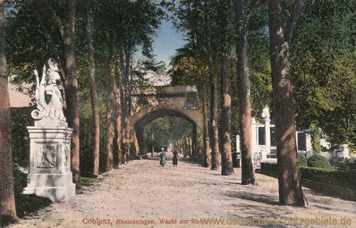 Koblenz, Rheinanlagen, Wacht am Rhein