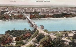 Koblenz, Rheinbrücke mit Schloss