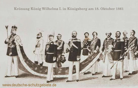 Krönung Wilhelms I. 1861 in Königsberg