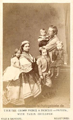 Kronprinz Friedrich Wilhelm und Familie, 1868